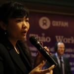 Ts. Đỗ Quỳnh Chi trình bày kết quả báo cáo Tiêu chuẩn lao động tại Unilever Việt Nam, tháng 1/2013