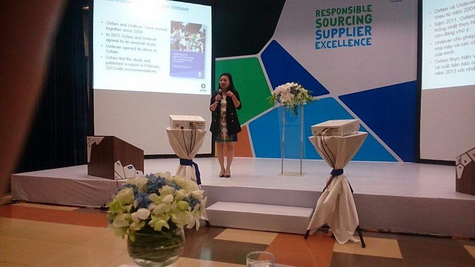 Hội nghị triển khai Bộ Quy tắc Cung ứng có trách nhiệm của Unilever, tháng 11/2014